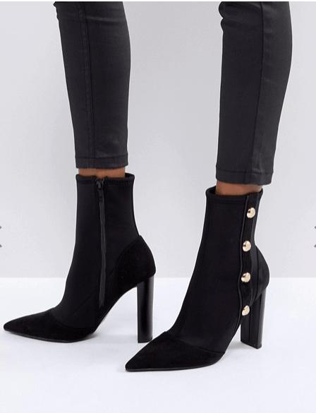 neat black booties