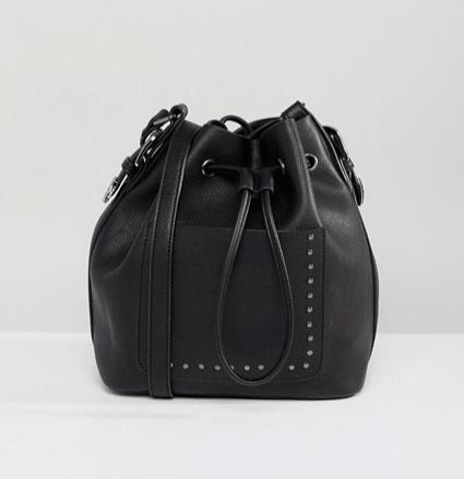 Zwarte duffle bag black schoudertas